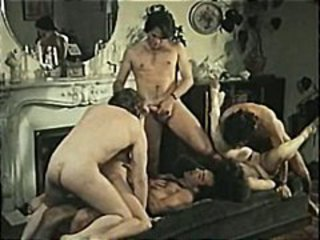 Exemplar hardcore French action with fruit group sex and DP