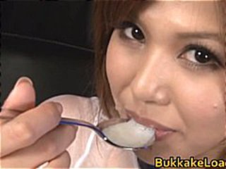 Cute neonate Pine Shizuku gets cum drenched part3