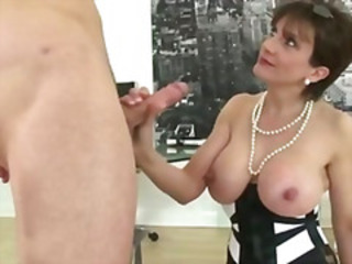 Big Tits British European Handjob