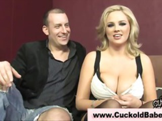 Big Tits Blonde Cuckold  Natural Wife