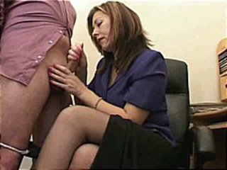 Handjob  Office Stockings