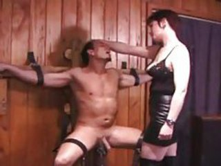 Dominatrix makes him suffer for her tubes