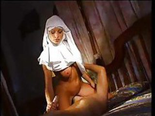 Horny nun really wants anal sex with the guy tubes