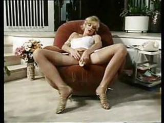 Dildo Masturbating  Stockings Vintage