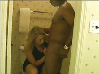 Blowjob Interracial Toilet Wife