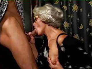 Granny slut loves to be pounded with big cock tubes