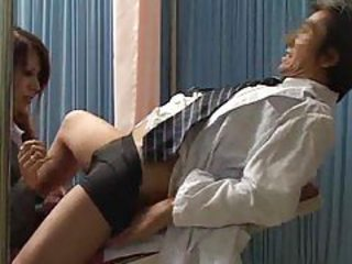 Japanese girl giving her doctor a blowjob tubes