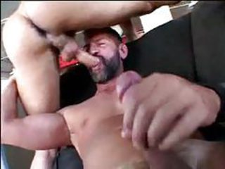 Gay bear group sex with anal and facial tubes