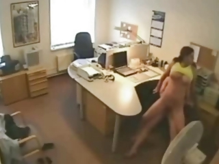 Cheating Wife Fucking Lover at the office on