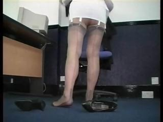 Legs Mature Office Secretary Stockings