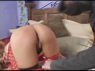 Mom takes RT ang spanks a faking brat