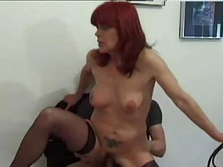 Amateur Mature Old and Young Redhead Riding  Tattoo