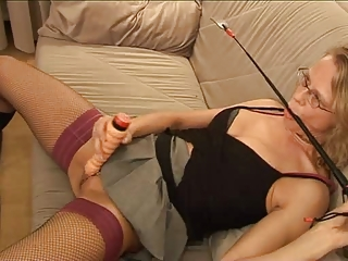 Amateur Dildo European Fetish German Glasses Homemade Masturbating  Stockings Toy