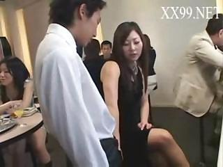 Japanese orgy with MILF taking part of all the