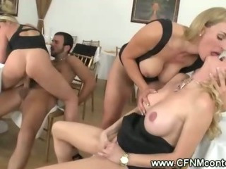 Milfs kissing while wait be incumbent on reinforcer vindicate out