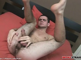 Twink guy Blake Savage play with a cock