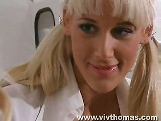 Blonde Nurse Teen Uniform