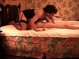 Mature Crossdresser Deep Throats Big White Cock