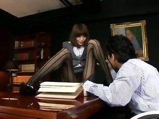 Asian Japanese Legs Office Pantyhose Teacher