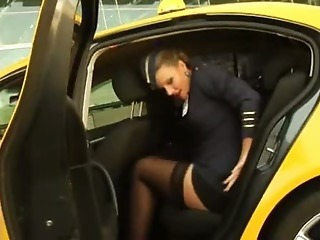 Car MILF Stockings Uniform