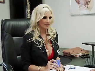 Amazing Big Tits Blonde Cute Doctor  Pornstar