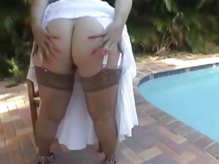 Amazing Chubby Pool Stockings