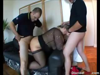 Chubby European French Mature Threesome