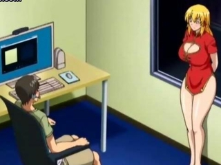 Big tited anime delighting a penis