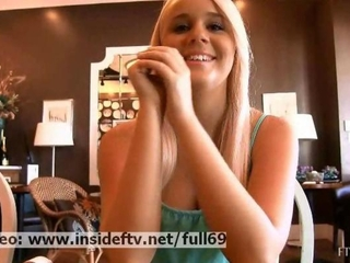 Alexis _ Amateur flaxen-haired flashing will not hear of..