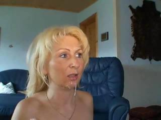 Amateur Blonde Cumshot Homemade  Swallow