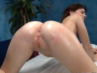 Amazing Ass Massage Shaved Teen