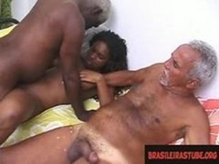 Amateur Daddy Daughter Ebony Old and Young Teen Threesome