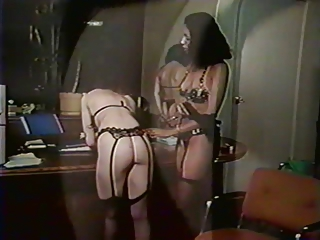Ass Lesbian Lingerie  Office Stockings Vintage