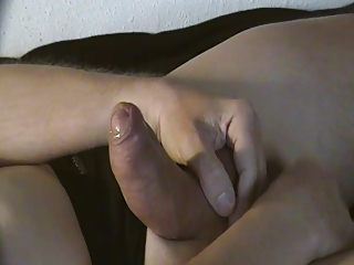 Gently Handjob. Massage of my Balls with Floating Cumshot
