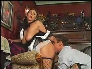 Fishnet Licking Maid  Natural Uniform
