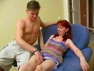 Amateur  Mom Old and Young Redhead Russian