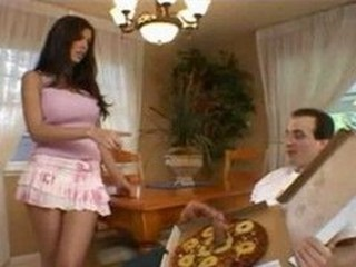Big Sausage Pizza - Shy Love Brunette Pink Skirt Trimmed
