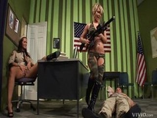 Army  Pornstar Threesome Uniform