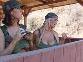 Army Big Tits  Outdoor Pornstar Uniform