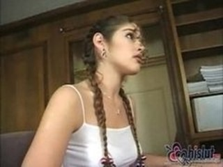 Cute Pigtail Teen Young