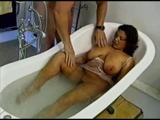 Bathroom Big Tits Mature Mom Natural Old and Young  Vintage