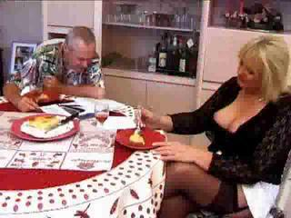 Big Tits Blonde Kitchen Mature Older Stockings Wife