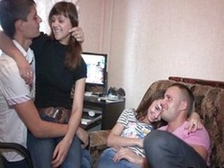 Sweet foursome teen fucking