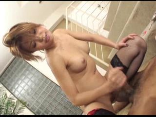 Asian Bathroom Handjob Stockings Teen