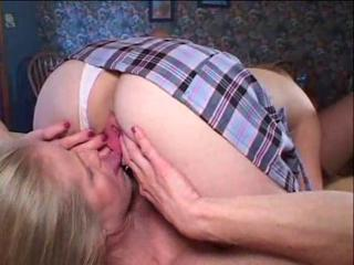 Daughter Granny Lesbian Licking Panty