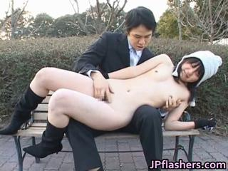 Japanese flasher acquires some hard core sex