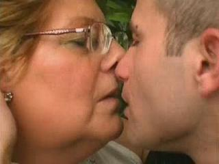 Chubby Glasses Granny Kissing
