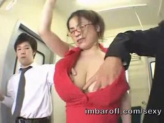 Asian Big Tits Glasses  Natural Public
