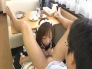 Asian Blowjob Maid Teen Uniform