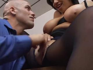 Alexis Silver fucked in pantyhose
